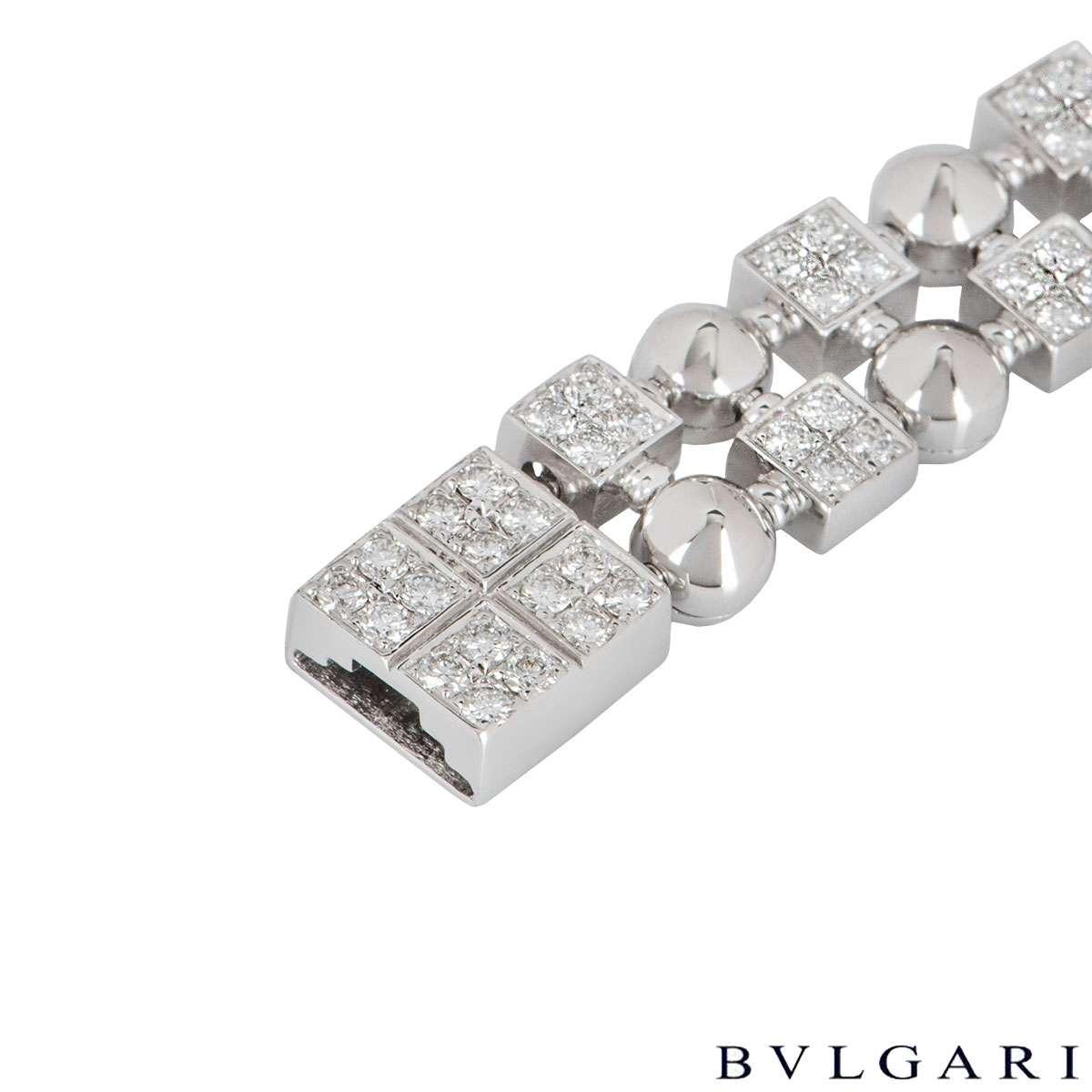 Bvlgari White Gold Diamond Lucea Bracelet